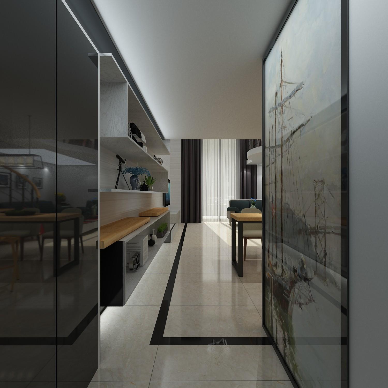 1室1卫1厅55平米简约风格