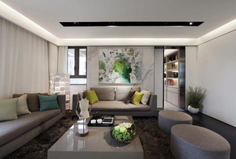六合天寓110方简约二居室效果图