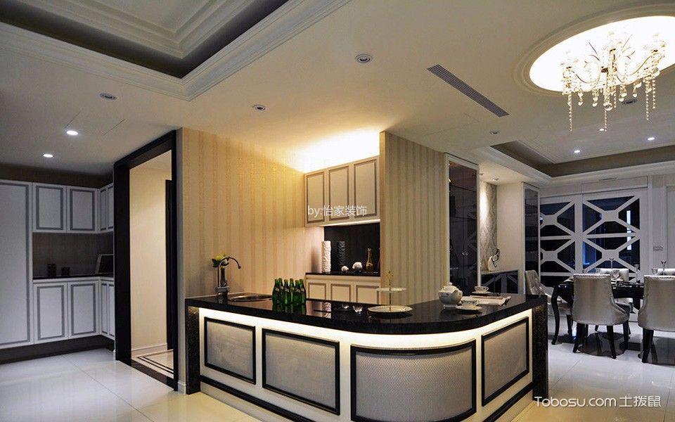 云锦世家3室2厅2卫165㎡现代新古典风格效果图