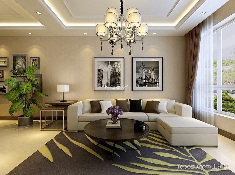 客厅 窗帘_保利达翠堤湾79平现代风格效果图