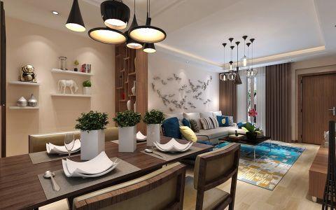 花果园现代风格两居室效果