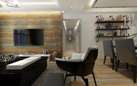 客厅走廊后现代风格装饰图片