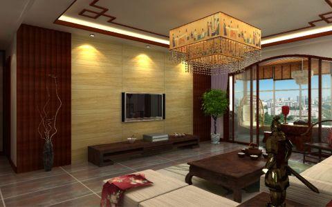 海亮樾金沙中式风格三居室装修效果图