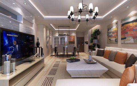 国际城现代风格三居室效果