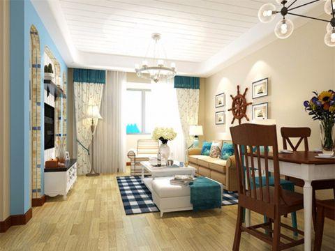 客厅窗帘地中海风格装饰效果图