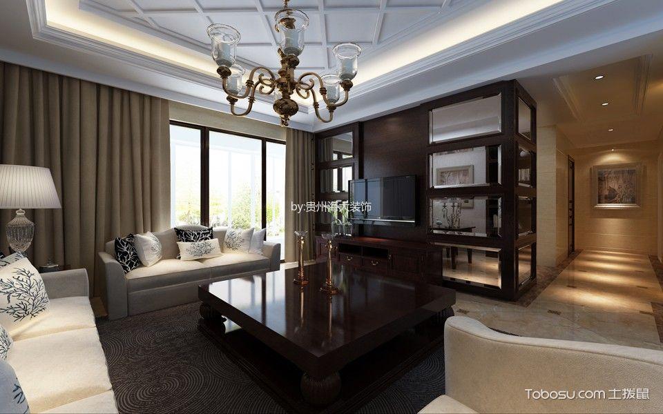 2020洛可可150平米效果图 2020洛可可四居室装修图