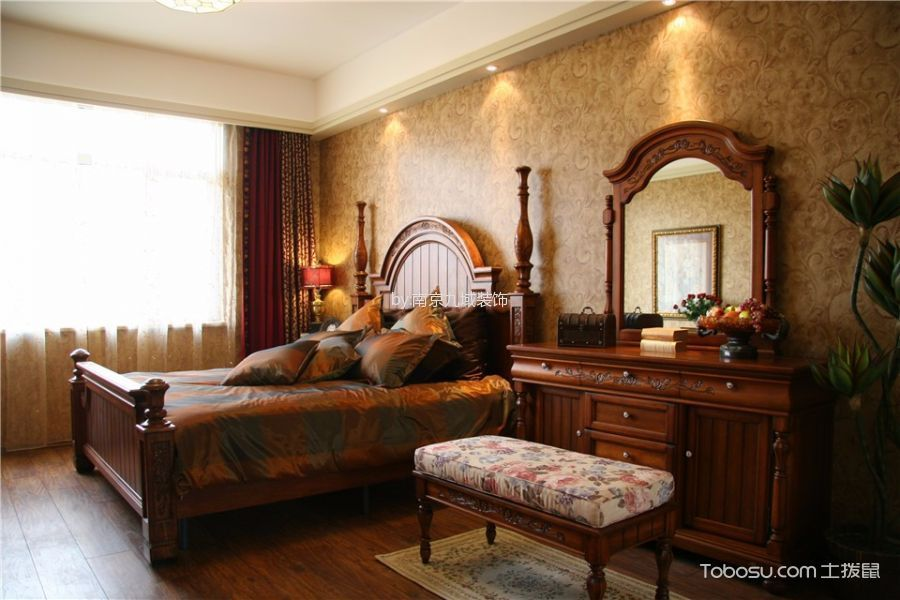 奥斯博恩庄园别墅200平米美式田园风格装修效果图
