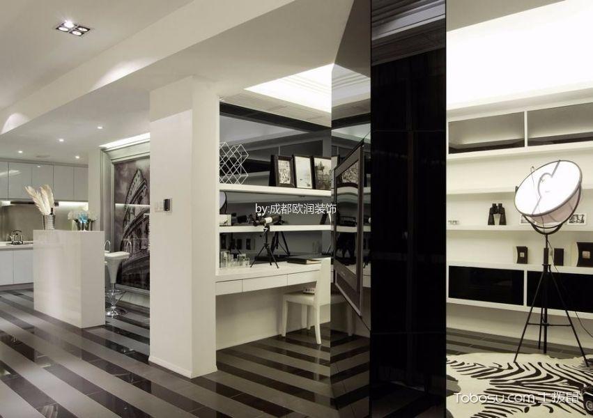 中德英伦联邦100平米现代简约风格二居室装修效果图