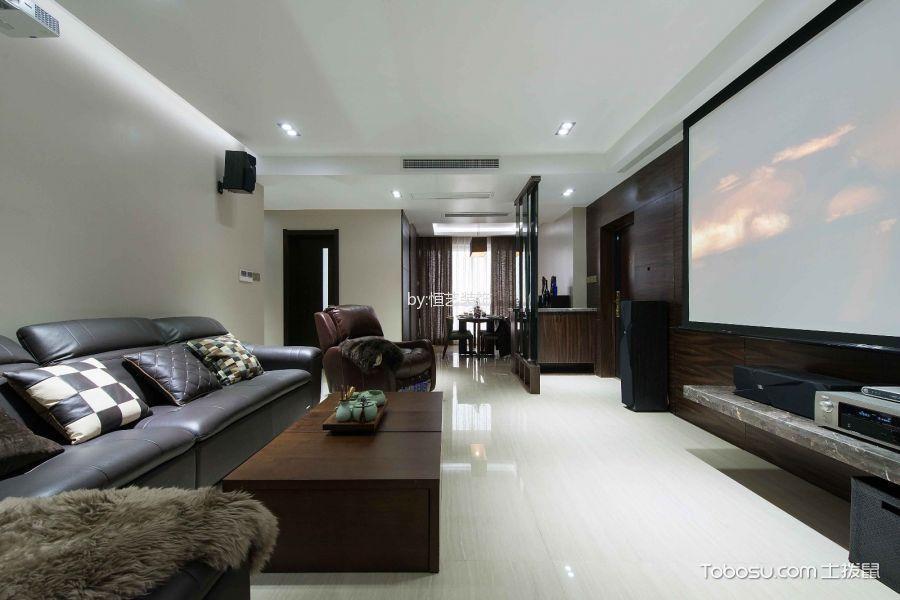 富力千禧现代简约风格三居室效果图