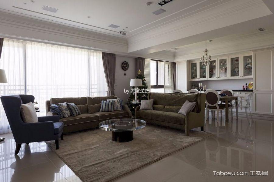 紫御江山120平混搭风格三居室装修效果图