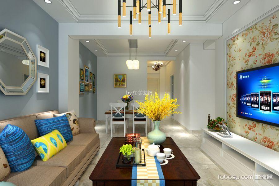 版筑青果100平米现代简约风格三居室装修效果图