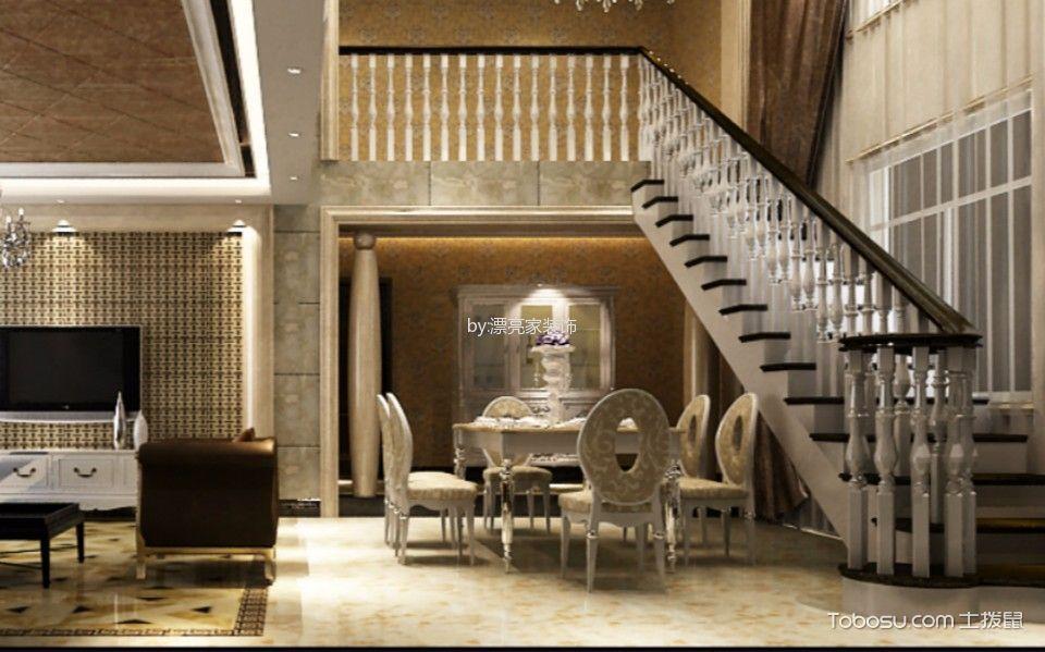 餐厅黄色地砖欧式风格装饰设计图片