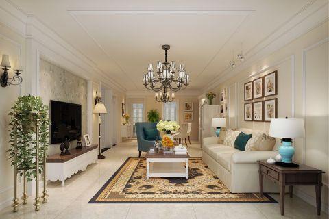 2018美式100平米图片 2018美式三居室装修设计图片