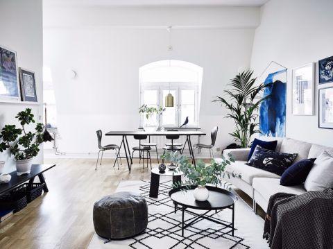 秋实家园90平两居室北欧风格效果图