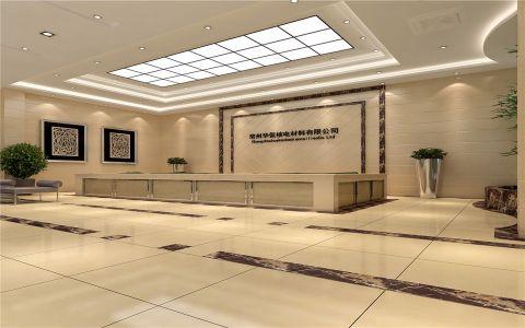 新中式风格写字楼工装效果图