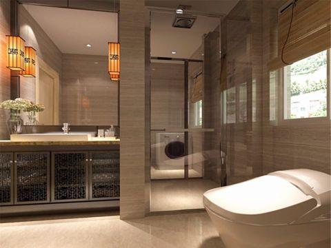 卫生间背景墙中式风格装饰效果图