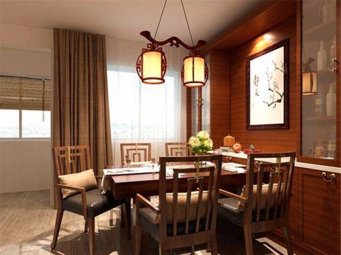 餐厅吊顶中式风格装潢效果图