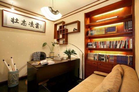 书房吊顶混搭风格装饰效果图