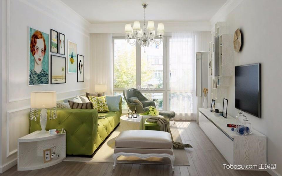 2室1卫2厅95平米简欧风格