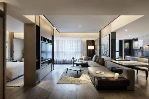 华瑞晴庐现代简约二居室风格图