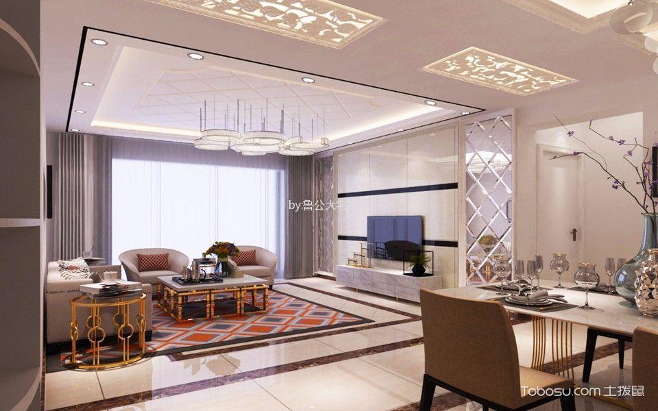 2019现代欧式客厅装修设计 2019现代欧式吊顶设计图片