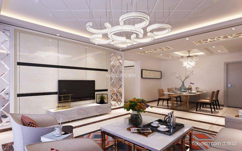2019现代欧式客厅装修设计 2019现代欧式茶几效果图
