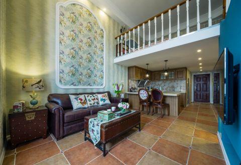 万达公寓loft一居室美式风格装修效果图