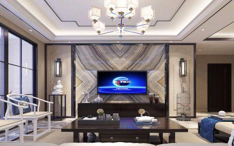 客厅咖啡色紫檀木茶几装潢效果图