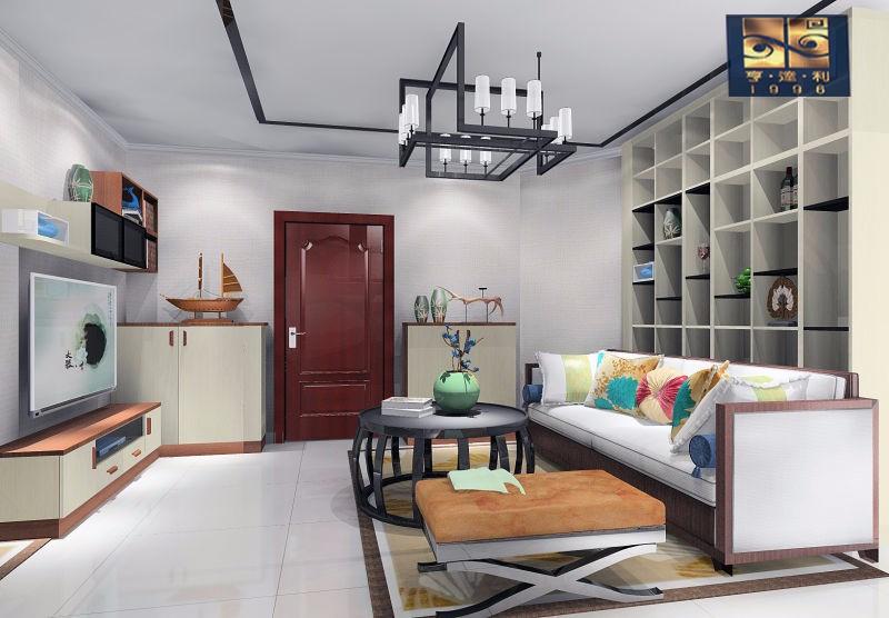3室2卫2厅91平米新中式风格