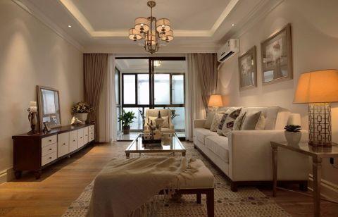 朗诗花漫里美式风格三居室效果图