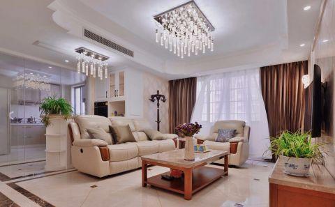 孟里花苑160平米现代简约风格三室两厅两卫装修实景图
