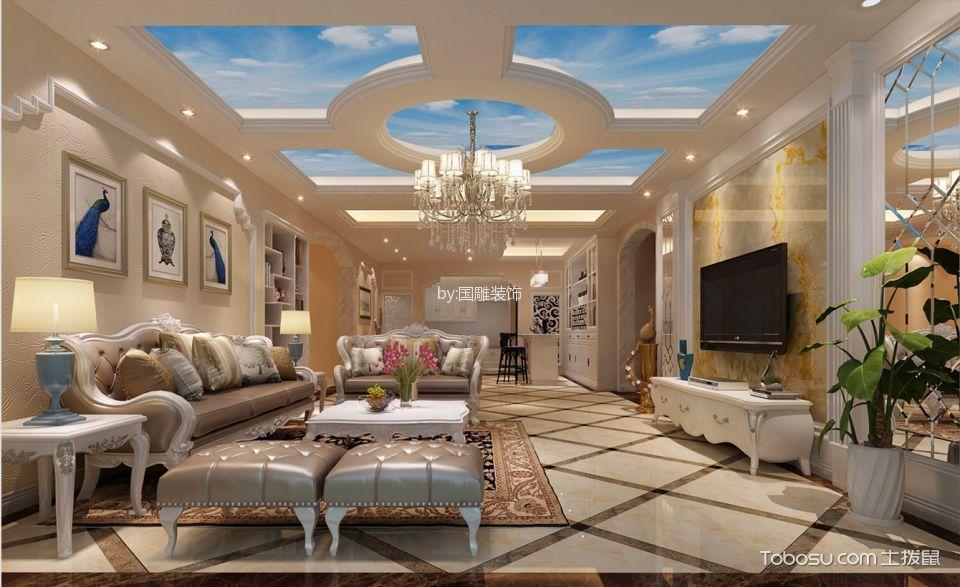 缘水岸小区180平米简欧风格四房两厅装修效果图