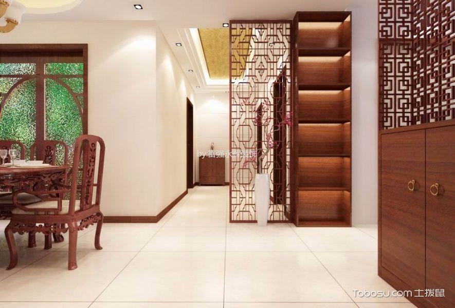 曙光里80平米新中式风格三房一厅装修效果图
