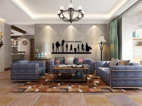 誉珑湖滨二期182平米美式装三房两厅修效果图
