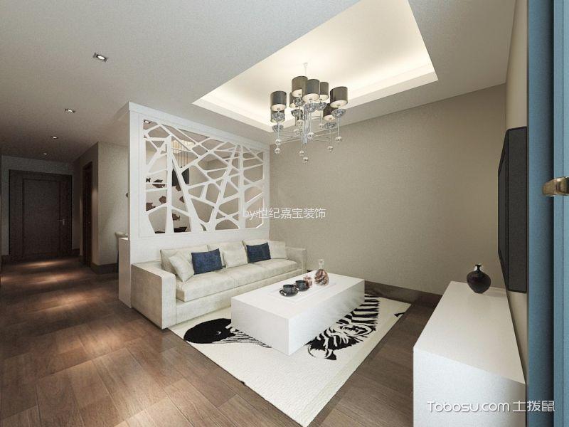 新澳花园80平米简约风格一房一厅装修效果图