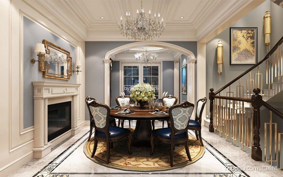 餐厅 楼梯_中海锦龙湾450平米法式风格别墅装修效果图图片