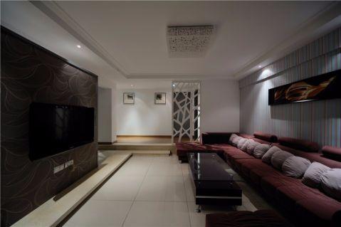 九洲新世界灰色120平米現代簡約風格三室兩廳裝修效果圖