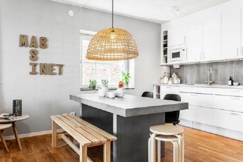厨房吊顶现代中式风格装修效果图