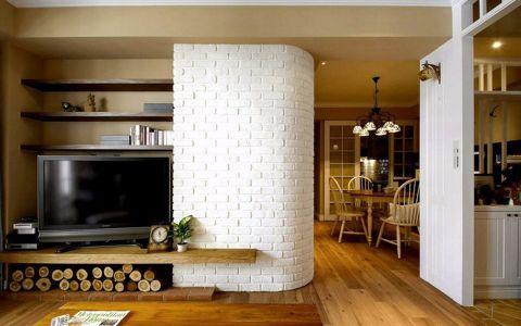 客厅走廊美式风格装潢设计图片