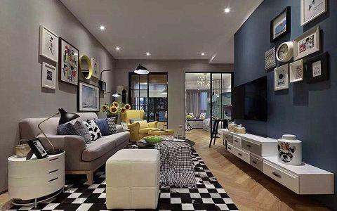 金域天下100平米现代简约三房两厅装修效果图