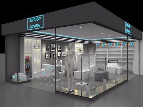 时尚风格丝袜展示厅工装效果图