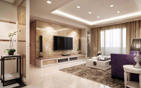 保利居上米色132平米现代简约风格套房装修效果图
