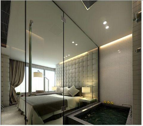 卧室吊顶后现代风格装饰图片