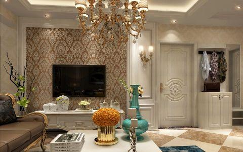 客厅背景墙欧式风格装潢图片