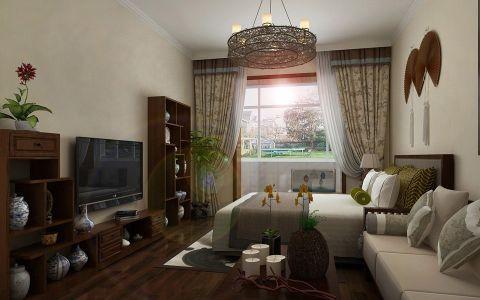 煤厂小区二居室中式风格效果图