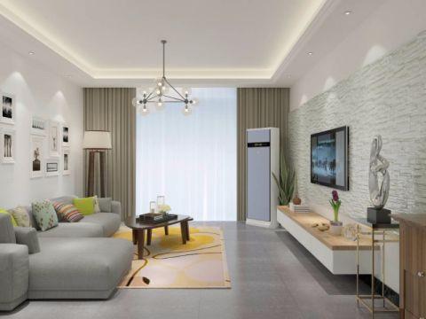 龙湖小区白色140平米北欧风格三室两厅装修效果图