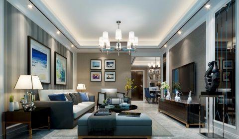世茂滨江花园100平米现代简欧风格两房一厅装修效果图