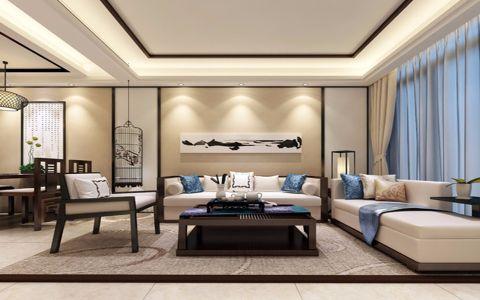 2021中式90平米效果图 2021中式二居室装修设计
