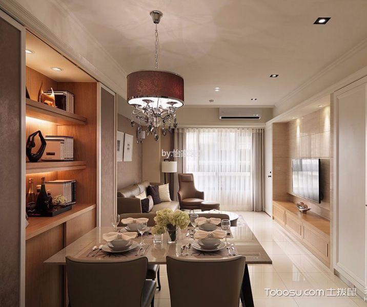 华润橡树湾85平米现代风格2室2厅1卫装修效果图