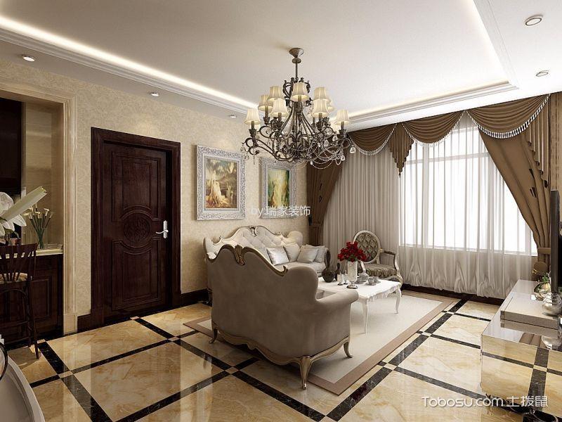 南奥国际110平米简欧风格三房两厅装修效果图